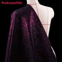 Bom Tecido Brocado Europa EUA Estilo Fio de Ouro de Malha Jacquard Brocado Tecido de Material de Tecido de Costura DIY Vestido de Casaco de Outono
