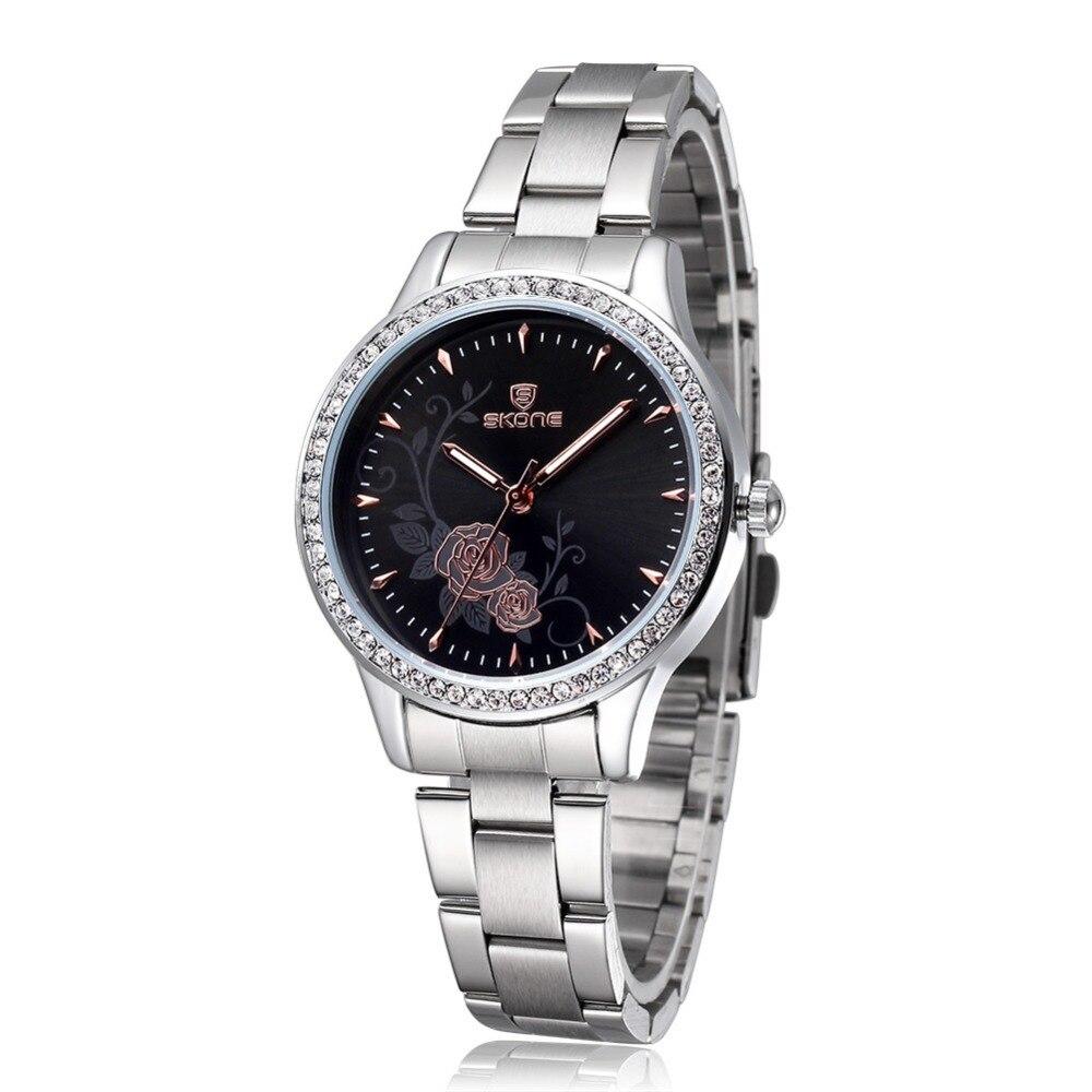 Skone Womens Watches Designer Top Brand Luxury Watch Ladies Fashion Casual Watch Women Dress Quartz Silver
