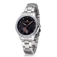 Skone Женские Часы Дизайнер Top Brand Роскошные Часы Дамы Моды Случайные Часы Женщины Платье Кварц Серебряные Часы Reloj Mujer