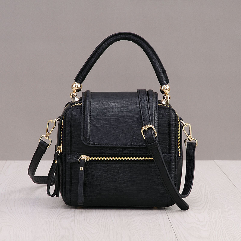2018 Casual Small Flap Crossbody bags For Women Zipper Split Leather Trunk Designer Handbags High Quality Luxury Shoulder Bags hongu genuine leather crossbody shoulder bags for women designer handbags high quality small square casual side purse