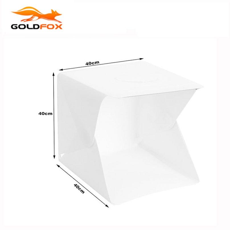 купить 40 x 40 x 40cm Lightbox Mini softbox LED Photo Studio Folding Light box Room Photography Backdrop Light Box Softbox Tent Kit по цене 1667.56 рублей