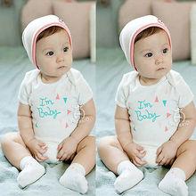 Newborn Boy Girl Letter Print One-Piece Romper Children Jumpsuit Outfits Set Baby Clothes