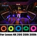 Последним Для Lexus NX 200 200 т 300 h/RC F/Украшение Автомобиля холодный Свет Атмосфера Лампа/9 М EL Провода/Консоль Автомобиля Декоративные Полосы