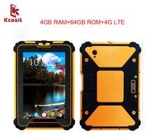 "Original K927 IP67 Robusten Android 7.1 Wasserdichte Telefon Tablet PC Stoßfest 4 GB RAM 64 GB ROM Octa-core 8 ""13.0MP 4G Lte GPS"
