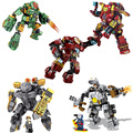 Marvel heroes Iron man módulo MK1 MK37 MK46 Hulkbuster MK42 iron patriot Tony Stark Capitán América legoes mini bloques