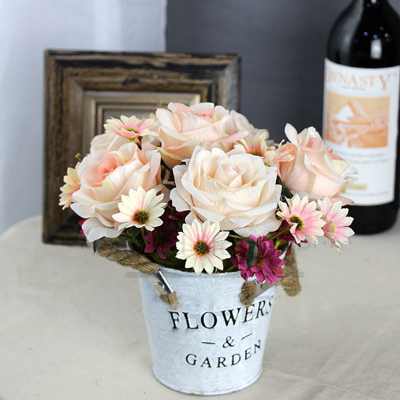 roses artificial flower bouquet wedding home decor (22)