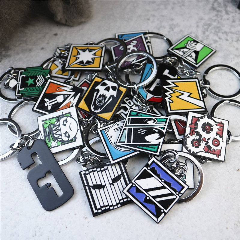 2019 Game Rainbow Six 6 Siege Keychain Men Tachanka Echo Kapkan Lesion Smoke Sledge Hibana Key Chain Holder Porte Clef Creative