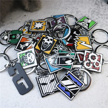 2019 Game Rainbow Six 6 Siege Keychain Men Tachanka Echo Kapkan Lesion Smoke Sledge Hibana key chain Holder Porte Clef Creative(China)