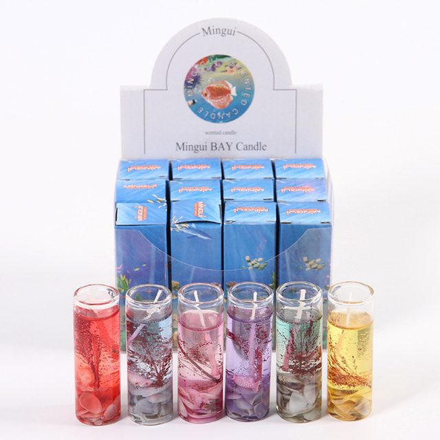 New Art Ocean Jelly Aromatherapy Candles Wedding Valentines Romantic Scented Candle Decoration Random Smokeless Candle  5