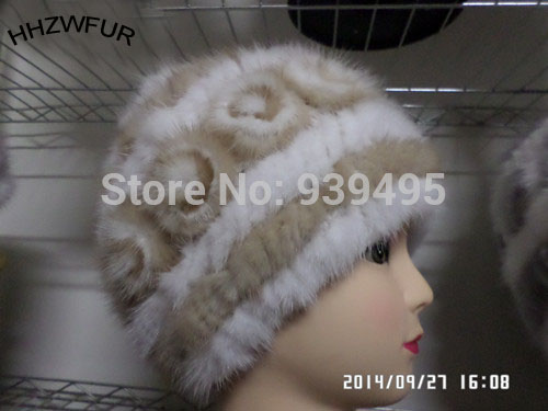 HHZWFUR Free shipping lady mink fur fashion hat