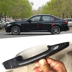 Para BMW M3 F80 2009, 2010, 2011, 2012, 2013, 2014, 2015, 2016, 2017, 2018 de 100% de fibra de carbono real de cubierta de la manija de la puerta exterior