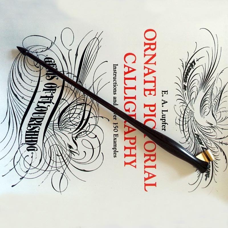 цена на New Handmade Oblique Calligraphy Dip Pen Holder Copperplate Script Dip Pen