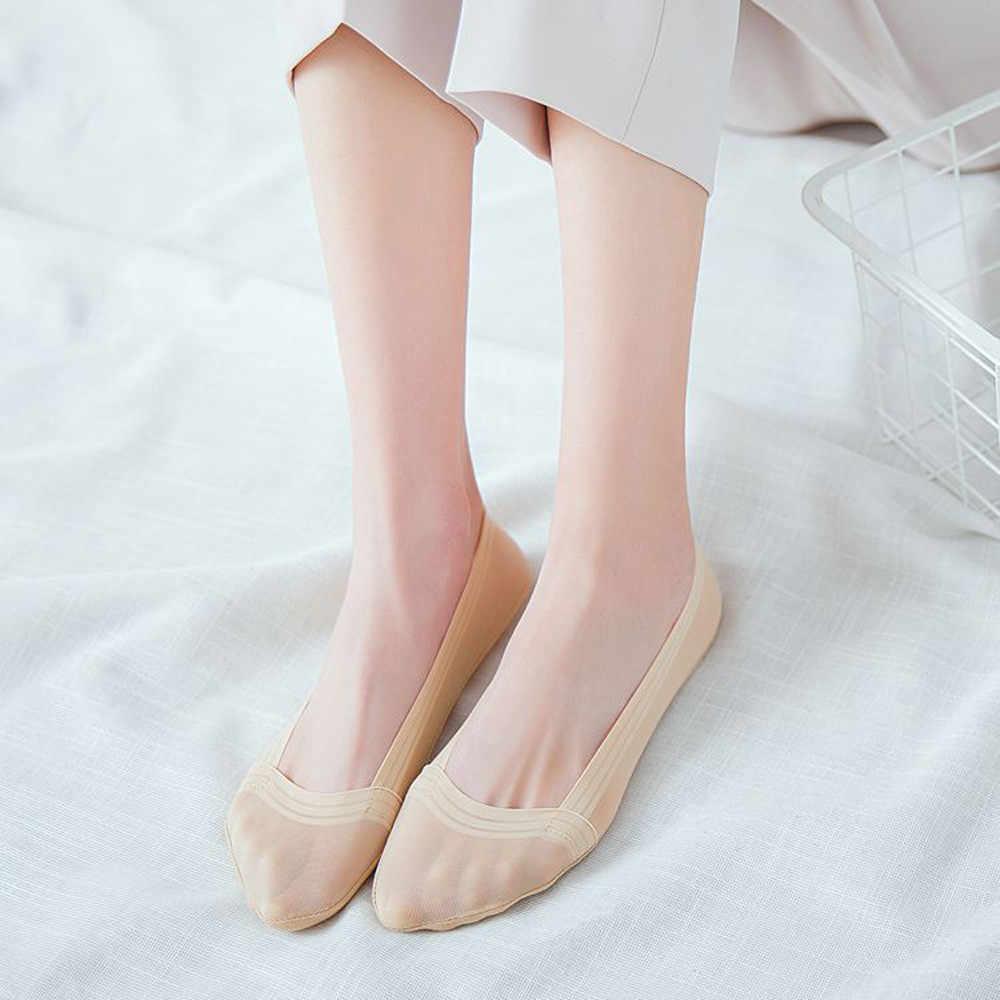 Jaycosin 女性靴下の口カジュアル通気性レディースソリッドカラー浅い口インビジブルボートソックススケートソックス快適な