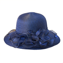 2019 new Summer Pearls Sun-shading Hat Female lace Flowers Sun Anti-uv Beach Folding Wide protection wholesale