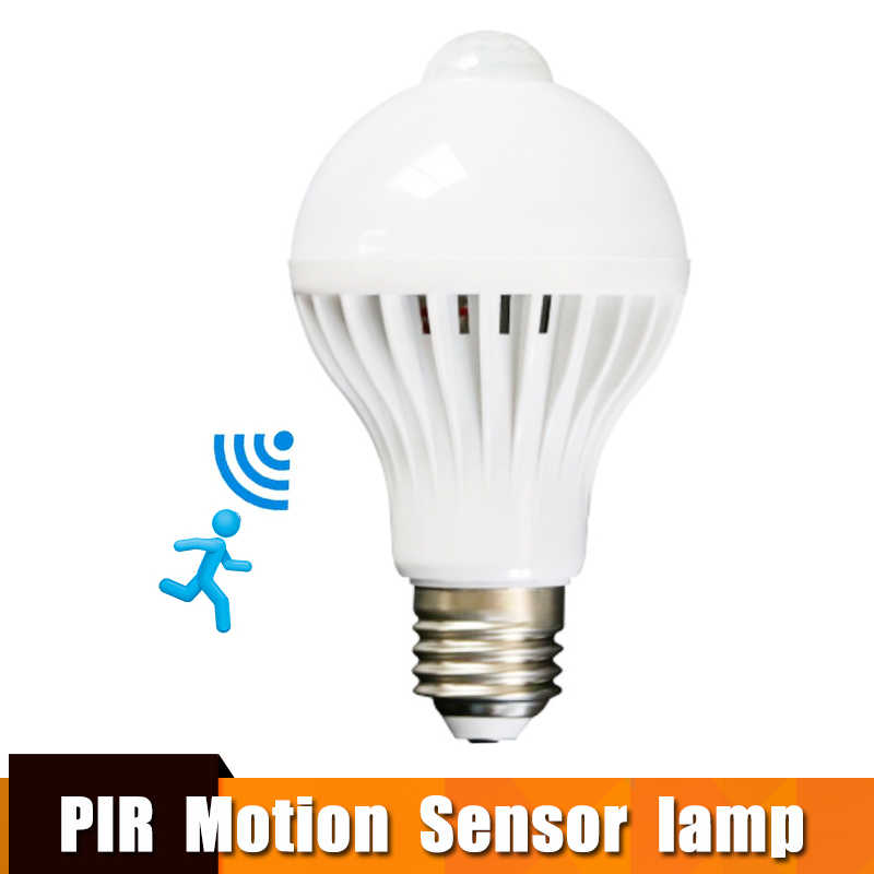 Led Bulb With Motion Sensor Smart Light Bulb E27 100-240V Led Lamp Light Bulb 3w-9w PIR Infrared Body Sound Light For Home Stair