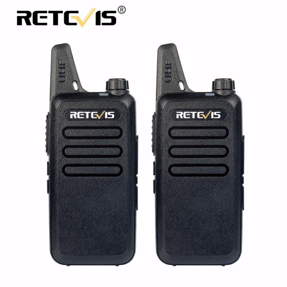 bilder für 2 stücke Mini Walkie Talkie Retevis RT22 2 Watt 16CH UHF VOX Scan Tragbare Ham Radio Hf Transceiver cb Radio Communicator Walkie-talkie