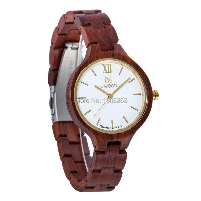여자 복장 시계 숙녀 여자 나무 석영 시계 전시 Bangle - 남성 시계