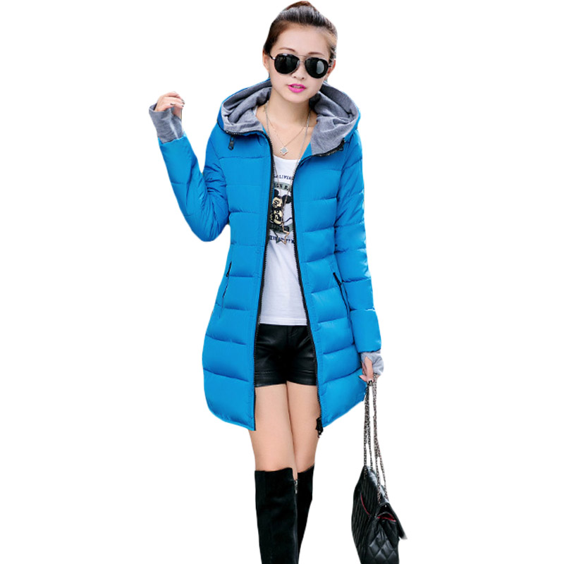 2017 New Coming Winter Parkas Women Slim Thick Warm Stylish Outwear Lady Zipper Pockets Hooded Studded Side Jackets Coats XH688 new collocation winter warm parkas hooded pockets zipper solid thick women coat slim long flare slim cotton padded lady jackets