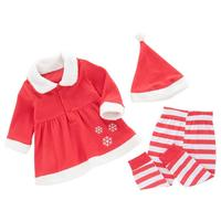Infant Baby Girls XMAS Outfits Clothes Dress Tops Pants Leggings Hat 3PCS Set Drop Shipping
