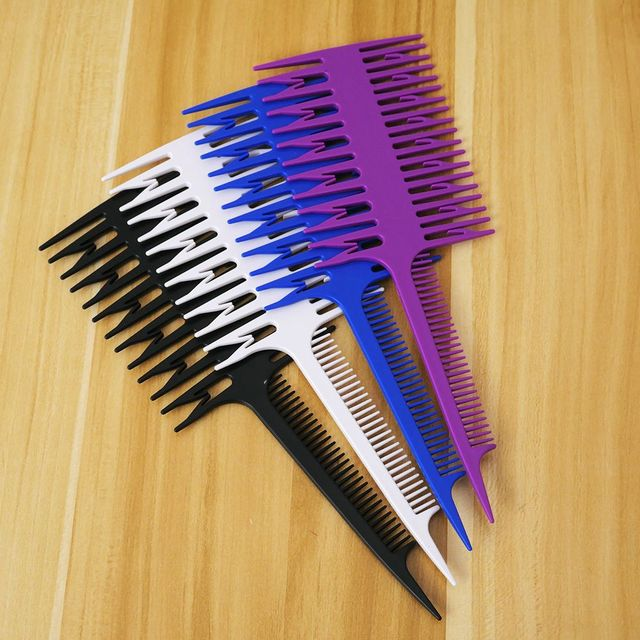 Women Large Salon Professional Hair Dyeing Comb Fish Sections