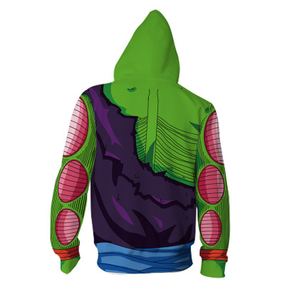 Dragon Ball Kakarotto Piccolo Cosplay men 3D Printed Sweatshirt Costumes zip Cardigan Sweater Cartoon hooded sweater Jackets in Anime Costumes from Novelty Special Use
