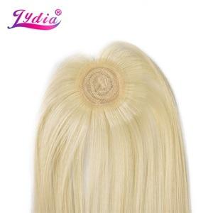 Image 5 - לידיה סינטטי יקי ישר שיער Weave עם כפול ערב 613 # בלונד שיער חבילות 16 inch 20 inch 4 יח\אריזה עם משלוח סגירה
