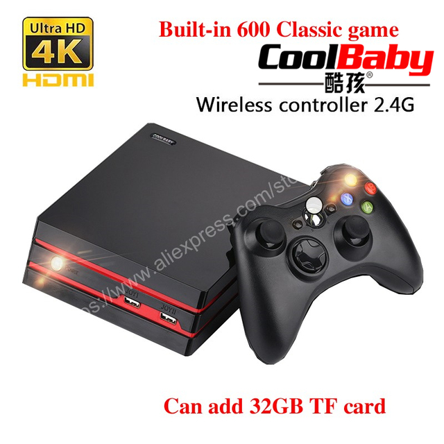 US $556 6 8% OFF|10PCS Retro Mini Classic Console Wireless Controller with  600 games HDMI + AV interface supports various can add TF card 32GB-in