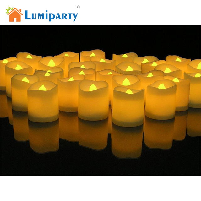 Lumiparty Led Lighted Flickering Votive Candles White Flameless Box Of  For Wedding Christmas Thanksgiving