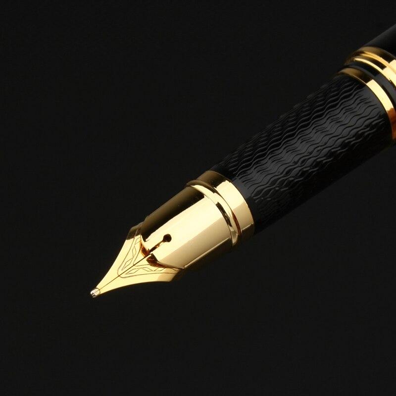 PICASSO 917 GLOSS BLACK AND GOLDEN MEDIUM NIB FOUNTAIN PEN NEW