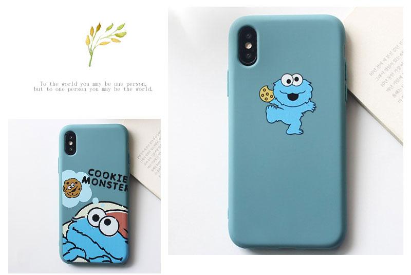 Sesame Street Case For iPhone 8 8plus 7 7 Plus Cases Silicone Phone Case For iphone 6 s 6s Plus X XR XS Max Cases Cover Coque    (11)