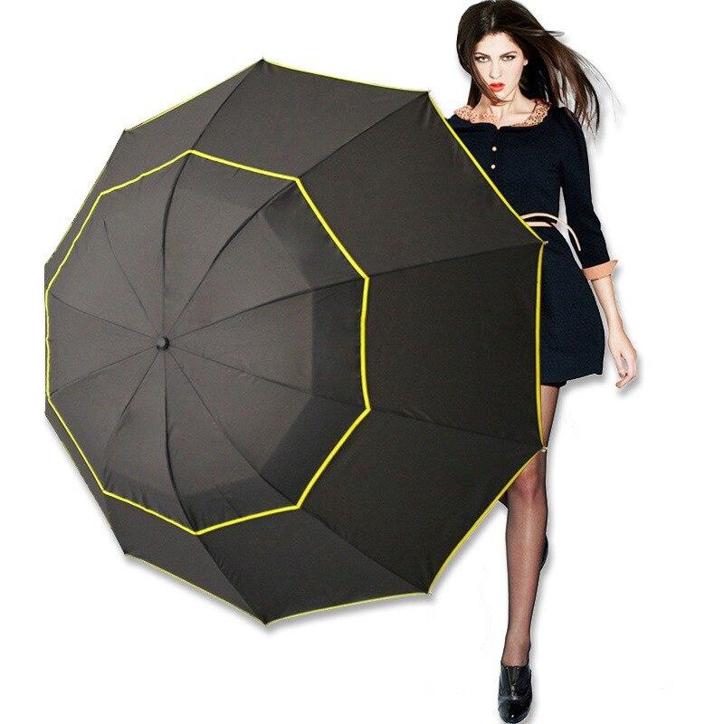 Rain Gear Semi-auto Open Manual Close Girls Umbrella 16 Ribs 190t Rainy Solid Umbrellas Big Long Windproof Waterproof Fiber Umbrella