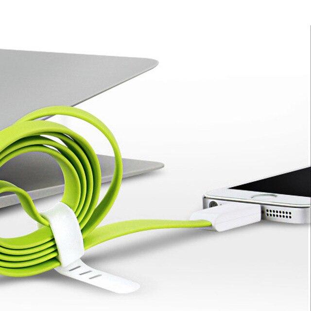 Kabel płaski 1m uniwersalny iPhone 6/6S / Samsung S6 S7 różne kolory