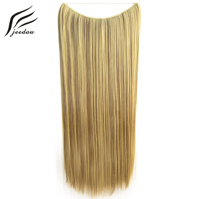 5pieces Jeedou Straight Flip In Line Hair Extensions Synthetic 24