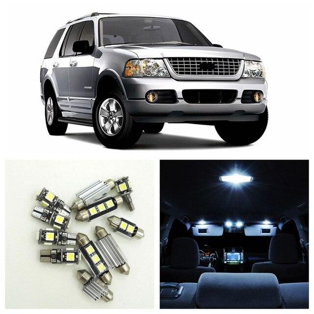 12pcs White Led Light Bulbs Interior Package Kit For Ford Explorer 2002 2003 2004 2005 Map Dome License Plate B 11
