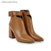 Ankle Boots Woman Shoes 2018 Hot Sale High quality PU Boots Super High S Heels Plus Big Size BA RD 5062