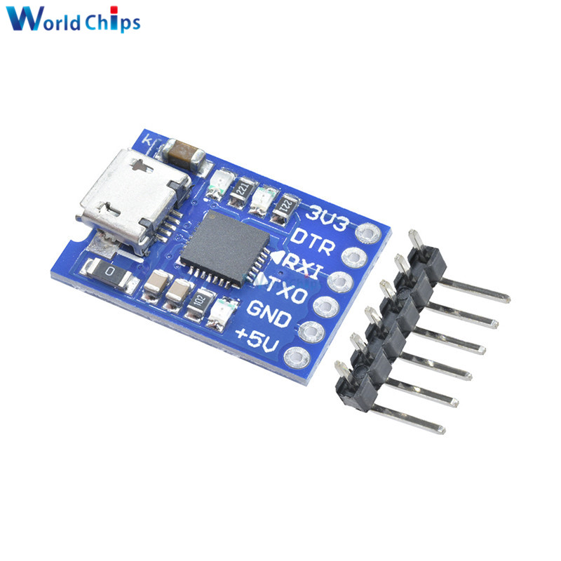 10Pcs Micro Usb To Uart Ttl Module 6Pin Serial Converter Stc CP2102 ig