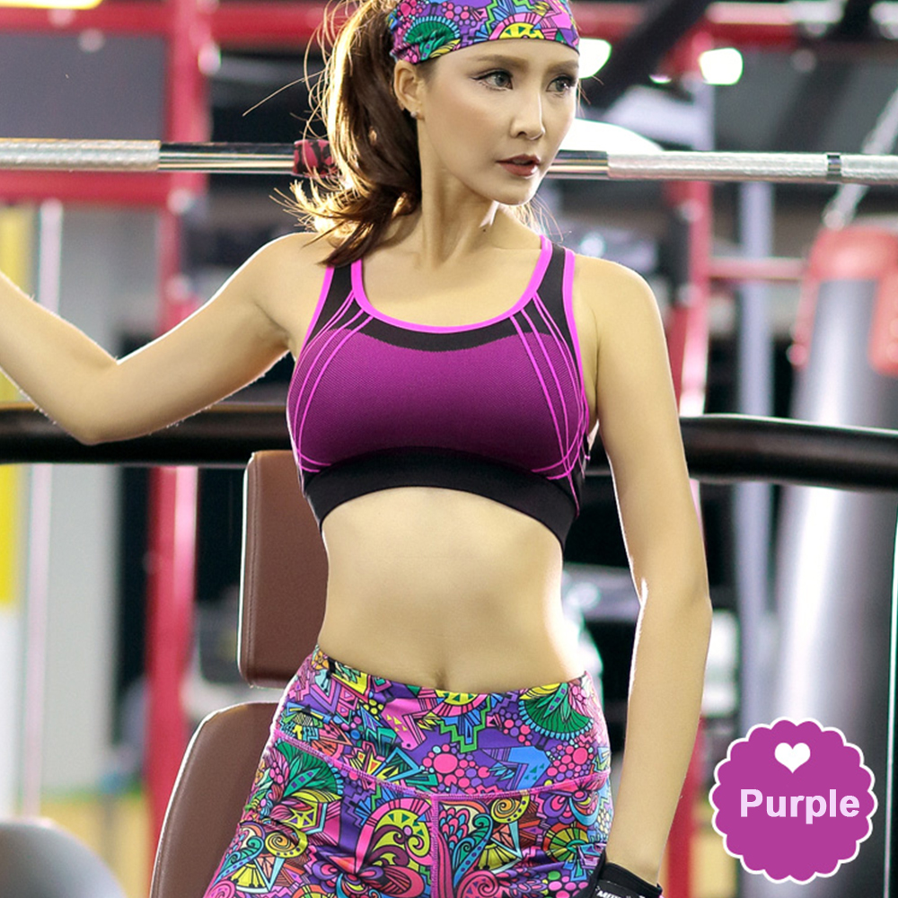 5978d30b51 ZAFUL Women Sport Yoga Set Running Gym Elastic Capris Slim Fitness Tights Sports  Wear Sports Bra+Print Pants+Bandeau Clothing