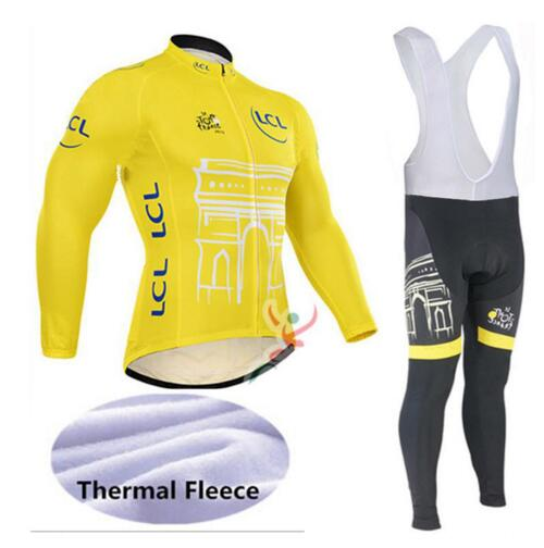 Tour De France Cycling Jerseys Cycling Set Winter Thermal Fleece Long Sleeves Suit Maillot Bike Clothing Ropa Ciclismo leobaiky 2018 brand cycling suit jerseys newest pro fabric wear long set bike clothing pants mtb bike maillot ropa cycling set