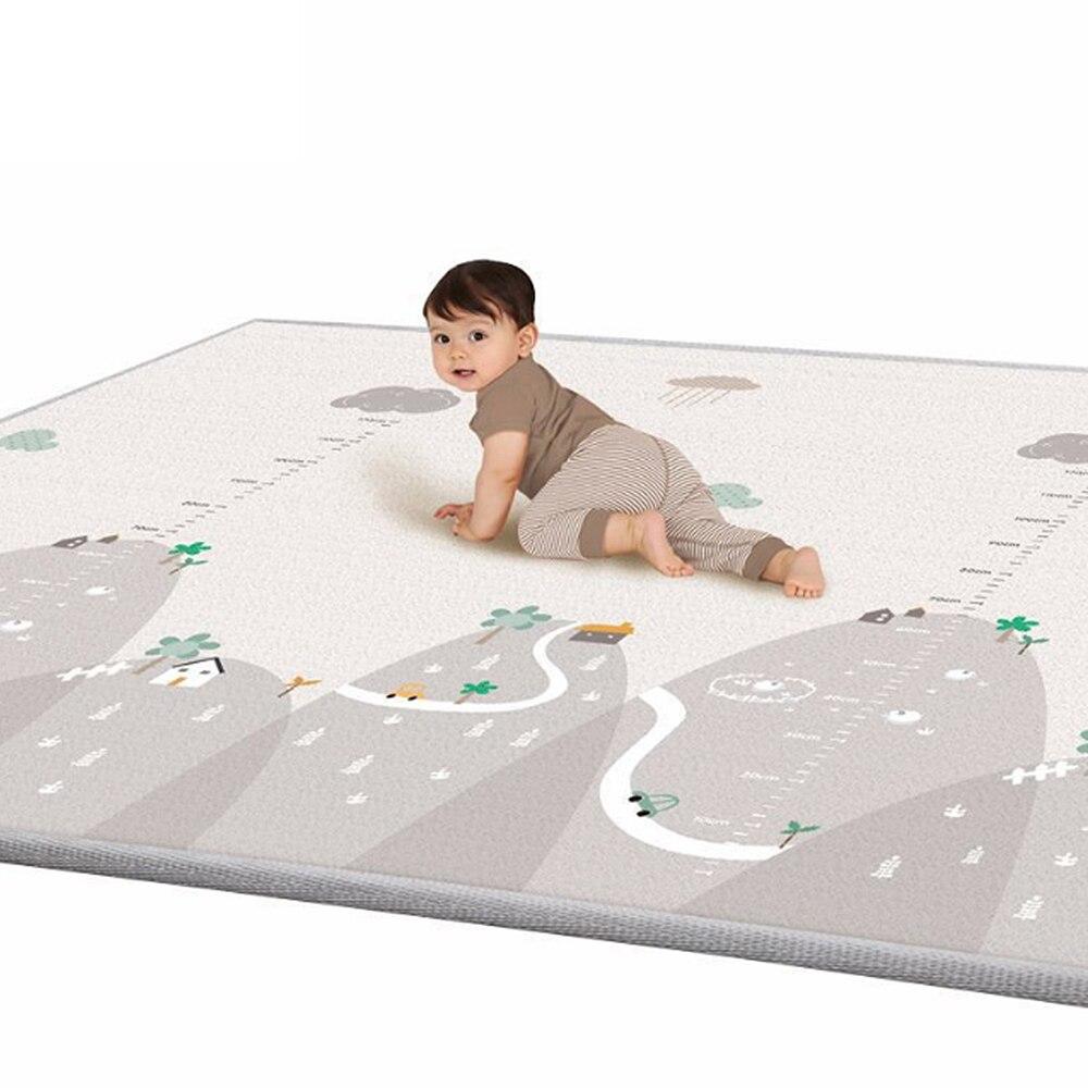 Nuevo 200*180 cm Tapete Infantil 1 cm de espesor de bebé alfombra Mat espuma Esteras del rompecabezas chico niño Crawl alfombra bebé Manta