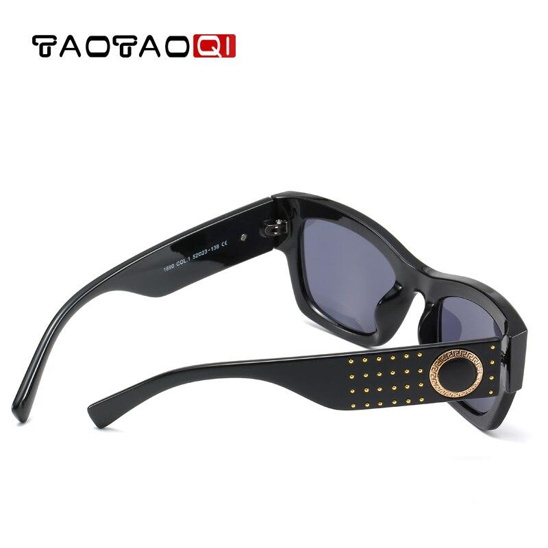 TAOTAOQI New Cat eye Sun Glasses Oversized Goggles Mens Square Sunglasses Women Fashion Famous Brand Rivet Black Eyewear Gafas in Women 39 s Sunglasses from Apparel Accessories