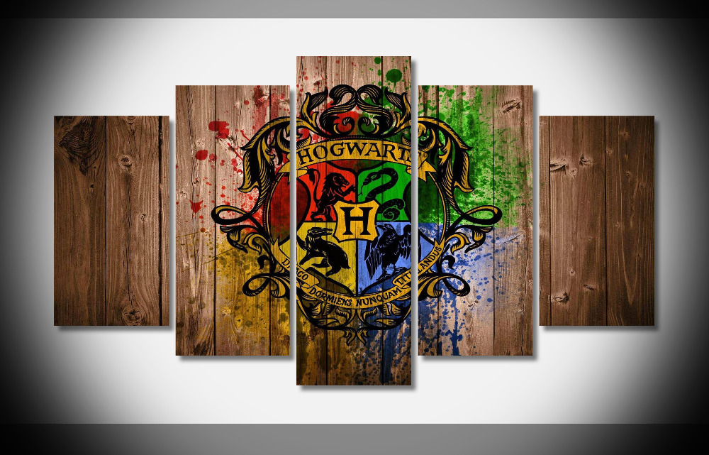 8265 Harry Potter Hogwarts Wood Movie Film poster Framed Gallery wrap art print home wall decor wall picture Already to hung