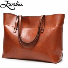 LOVAKIA brand women's leather handbags casual shoulder bag designer luxury female tote barge capacity zipper bags for Women
