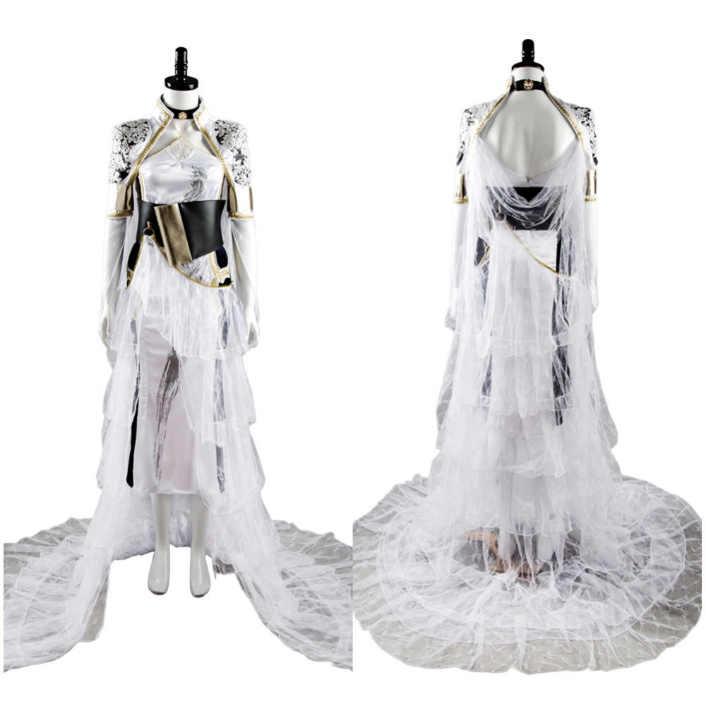Fleuret Cosplay Final Fantasy XV Lunafreya Nox Fleuret Dress Cosplay Costume FF15 Woman Full Set Party