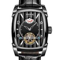 Nesun турбийонные автоматические механические часы Мужские часы Скелетон люксовый бренд Мужские часы водонепроницаемые relogio masculino N9039 2
