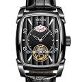 Nesun Tourbillon Automatische Mechanische Uhr Skeleton Uhr Männer Luxus Marke männer Uhren Wasserdicht relogio masculino N9039 2-in Mechanische Uhren aus Uhren bei