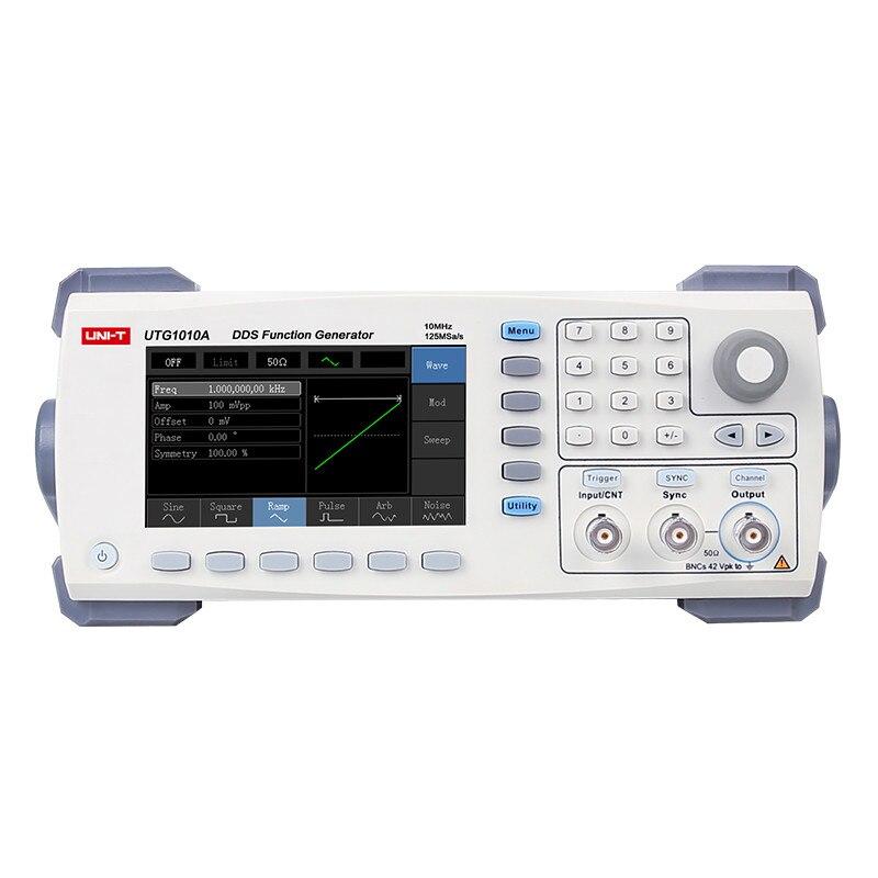 UNI-T UTG1010A haute qualité fonction/générateur de forme d'onde arbitraire 1 canal 10 MHz bande passante 125 MS/s 10 MHz 14 bits Interface USB