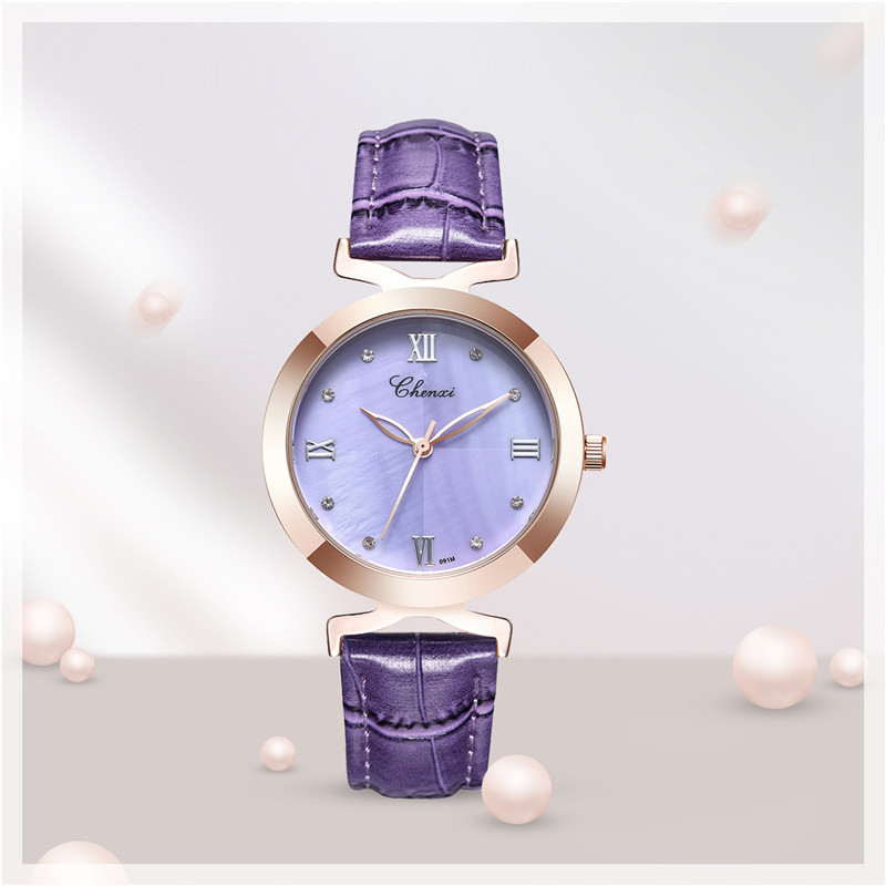 0fdece96526 CHENXI À Prova D  Água Relógio De Pulso Das Mulheres Relógios de Luxo  Pulseira de Couro relógio de Quartzo Relógio Feminino Ceasuri Hodinky  Relógio de Pulso ...
