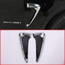 2 шт для BMW X серии X5 F15 X5M F85 акула жабры стороны отверстие наклейки ABS автомобилей переднее крыло сторона вентиляционное отверстие крышки отделкой 14 +