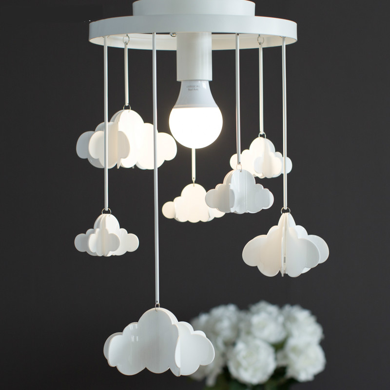 Nordic Creative Personality Rural Lovely Iron Clouds Led E27 Ceiling Light For Children's Room Bedroom Balcony Asile 1893 moschino light clouds edt 50мл moschino moschino light clouds edt 50мл