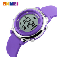 Skmei Children Fashion Digital Watch Colorful Backlight Waterproof Plastic Dial Silicone Strap 2016 New LED Watches
